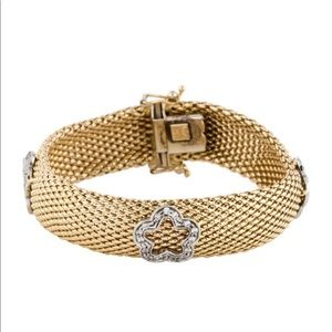 Jewelry - 14k braided diamond bracelet 26.3 grams